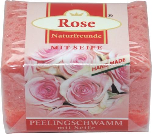 Naturfreunde PEELING SEIFE ROSE - 65 g